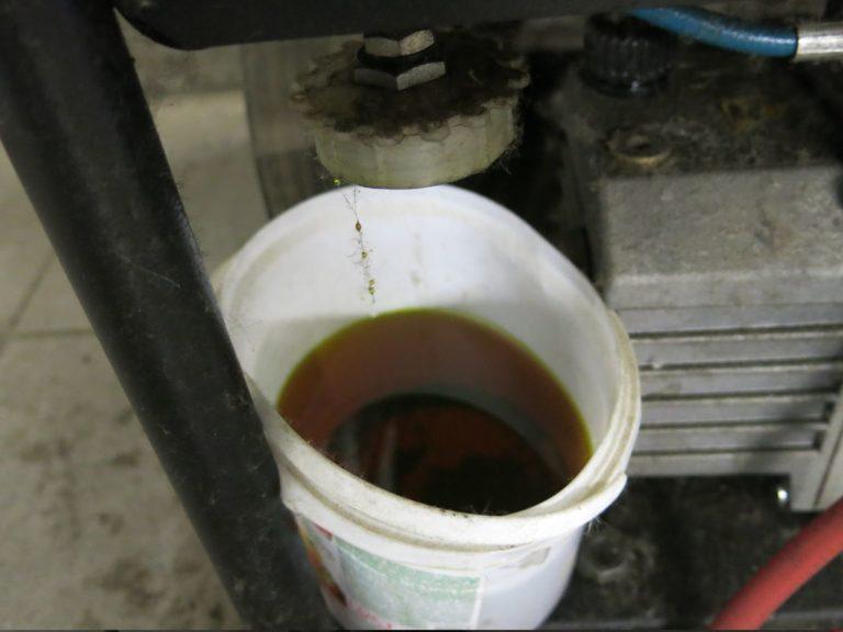 Отработанное масло для заправки кондиционера
